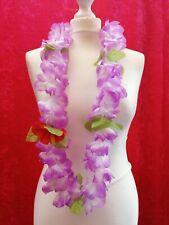 Pretty Purple Hawaiian Flower Garland Lei Luau Party Beach Fancy Dress
