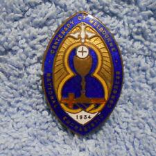 #D482.  1934 MELBOURNE CENTENARY ENAMEL BADGE - NATIONAL EUCHARISTIC CONGRESS