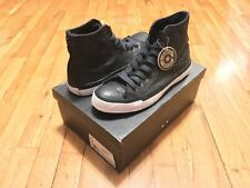 CONVERSE CHUCK TAYLOR LEATHER JACKET HI BLACK 103550 SIZE 10 RARE
