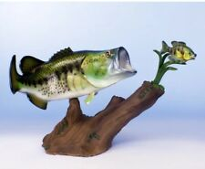 """Taxidermy Striking Bass Large Trophy 20"""" Replica Mount / Stand / Statue"""