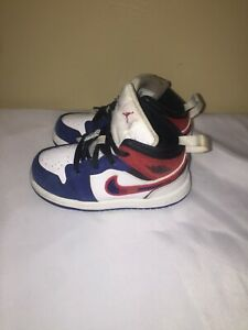 Jordan Air Jordan 1 Mid (White) toddler Size 7C