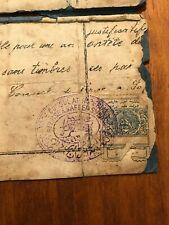 RARE Persien Consular Stamp on Document