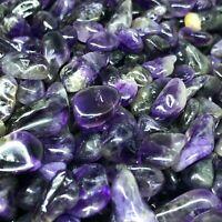 100g Natural Amethyst Crystal Quartz Gravel Tumbled Bulk Stone healing-GL