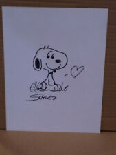 Charles Schulz signed autographed sketch of Peanuts character Snoopy