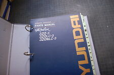 HYUNDAI 320-3 LC Excavator Trackhoe Crawler Parts Manual book catalog list spare