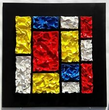"Mivillage, ""Mondrian S 21"" - Original Mixed Media, Hand Signed & Dated"