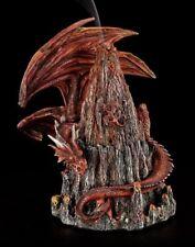 Cônes support Dragon sur Volcan Figurine Décorative Porte-encens Gothic Fantasy
