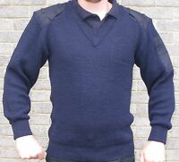 Ex Police Navy Blue Nato Jumper Pullover 100% Pure New Wool Security SIA Doorman