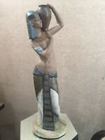 "RARE Large 22"" Lladro Gres #12039 ""Aida"" Egyptian Lady Water Bearer MINT!"