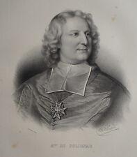 M. DE POLIGNAC , PORTRAIT, LITHOGRAPHIE 1840 DELPECH