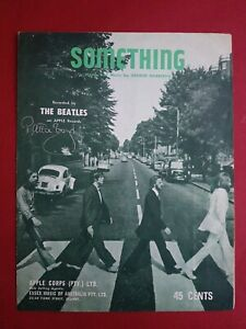 SIGNED The Beatles George Harrison Sheet Music Something Patti Boyd autograph