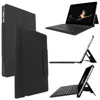 For Microsoft Surface Go 10 Leather Case Smart Cover Bluetooth Wireless Keyboard