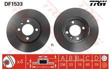TRW Juego de 2 discos freno Antes 256mm ventilado SEAT IBIZA VOLKSWAGEN DF1533