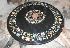 2' MARBLE DINING COFFEE SIDE CORNER CENTER  TABLE TOP  MOSAIC INLAY STONE WORK