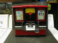 VINTAGE PREMIERE 5 cent BALL GUM and CARD VENDING MACHINE - WORKS