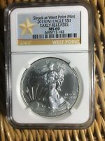 2013 (W) $1 AMERICAN SILVER EAGLE NGC MS 69 ( Early Release ) GOLD STAR LABEL!!!