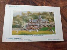 Vintage Cadbury's Men's Pavilion Recreation Grounds Bourneville Postcard 1911