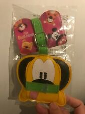 Disney Mickey Mouse Pook-a-Looz Pluto luggage tag unopened new circle k