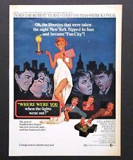 """1968 """"Where Were You When Lights Went Out"""" Movie Advertisement NY Blackout AD"""