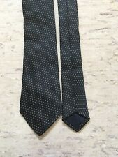"TU black dotted smart polyester tie 2.3"" wide 57"" long"