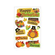 Scrapbooking Stickers Paper House 3D Crafts Happy Turkey Day Fall Harvest Gobble