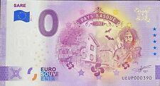 BILLET 0  EURO SARE PAYS BASQUE FRANCE 2021 NUMERO DIVERS