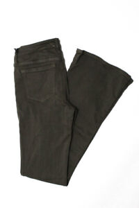 Black Orchid Womens Mid Rise Flare Jeans Olive Green Cotton Size 28