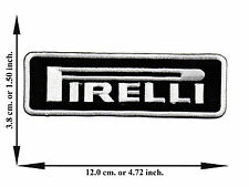 Black Pirelli Car Racing Rider Automobile V01 Logo Applique Iron on Patch Sew