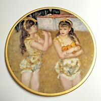 """VTG Pickard China The Children of Renoir """"Two Little Circus Girls"""" 8""""  Plate"""