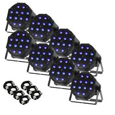 Equinox MaxiPar Tri MKII LED DMX DJ Disco Stage Wash Lighting Effect Parcan (x8)