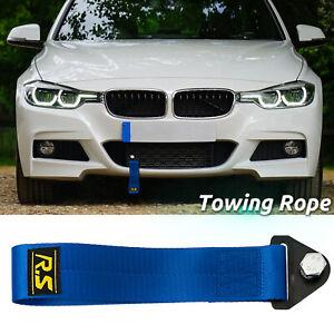 Car Tow Rope High Strength Racing Sports Drift Rally Towing Blue Strap Belt Hook