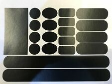 Matt Black Frame Chainstay Patch Rubbing Protection Sticker Set
