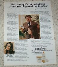 1973 ad page -Clairol Condition JULIUS CARUSO hairdresser girl hair style ADVERT