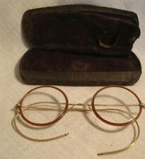 Vintage Eyeglasses Glo Gold  Eye Glasses with brown rim and case - Inventory  #5
