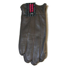WOMENS LADIES GREY M/L SOFT GENUINE LEATHER GLOVES CASUAL DRIVING RIDING