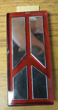 Oldsmobile Emblem Silver And Red W/ Adhesive Backing