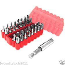 TAMPER PROOF SECURITY SCREWDRIVER BIT SET HOLE TORX Hex
