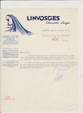 LETTRE ANCIENNE COMMERCIALE LINVOSGES/CHEMISIER/LINGE DE MAISON/ VICHY