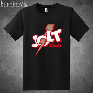 Jolt Cola Famous Cola Logo Men's Black T-Shirt Size S to 3XL