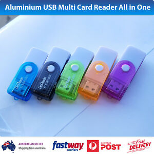 Aluminium USB Multi Card Reader All in One SDHC SDXC Micro SD Memory Stick M2