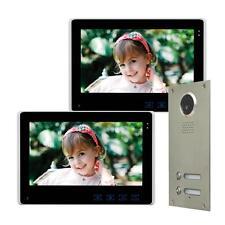 """Zweifamilienhaus Farb Video Türsprechanlage 10"""" Monitor LED Nachtsicht Cam 110°"""