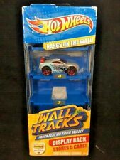 NEW Hot Wheels Wall Tracks Display Rack with 1 Car Stores 5 Cars Hangs on Wall