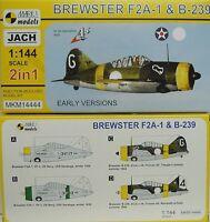 Brewster F2A-1 & B-239 , Früh, Finnland, US Navy, 1:144,Mark I. Doppelpack, NEU!