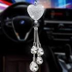 NEW Bling White Heart Diamond Car Accessories Lucky Crystal Sun Catcher