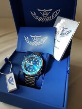 Squale1521 BLUE OCEAN Lucidato caso 50 Atmos Diver Blu Dial a sole