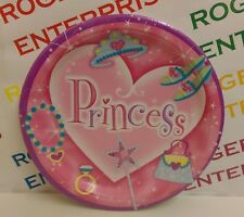 Pack 8 Pink Princess Theme Paper Party Plates 23cm Girls Birthday Multibuy Offer