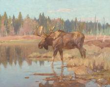 Rungius Carl Moose In A Marshland Canvas 16 x 20 #7346