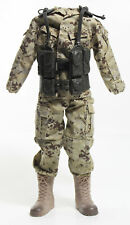 "1:6 12"" Inch Action Figure Desert Camo Army Military Outfit Fatigues w/ Vest"