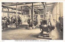 Des Plaines IL~St Mary's Training School~Interior Power House~Generators~1916 PC