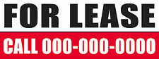 96in x 36in Vinyl Banner Sign CUSTOM FOR LEASE Multi-Color add your phone number